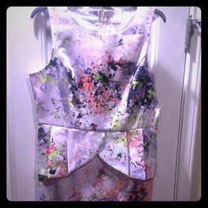 Cute peplum dress floral pattern brand new